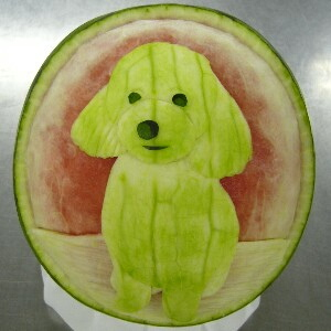 Watermelon Carving No.161: Dog.