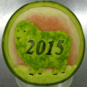 Watermelon Carving No.160: Sheep.