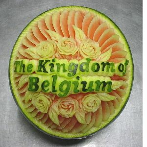 watermelon sculpture: Kangaloo.
