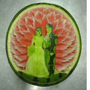 watermelon sculpture: Bridal.