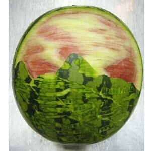 watermelon sculpture: Fruit Carving.