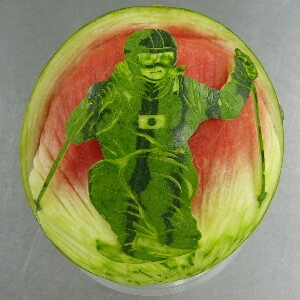 Can you eat carved watermelons?