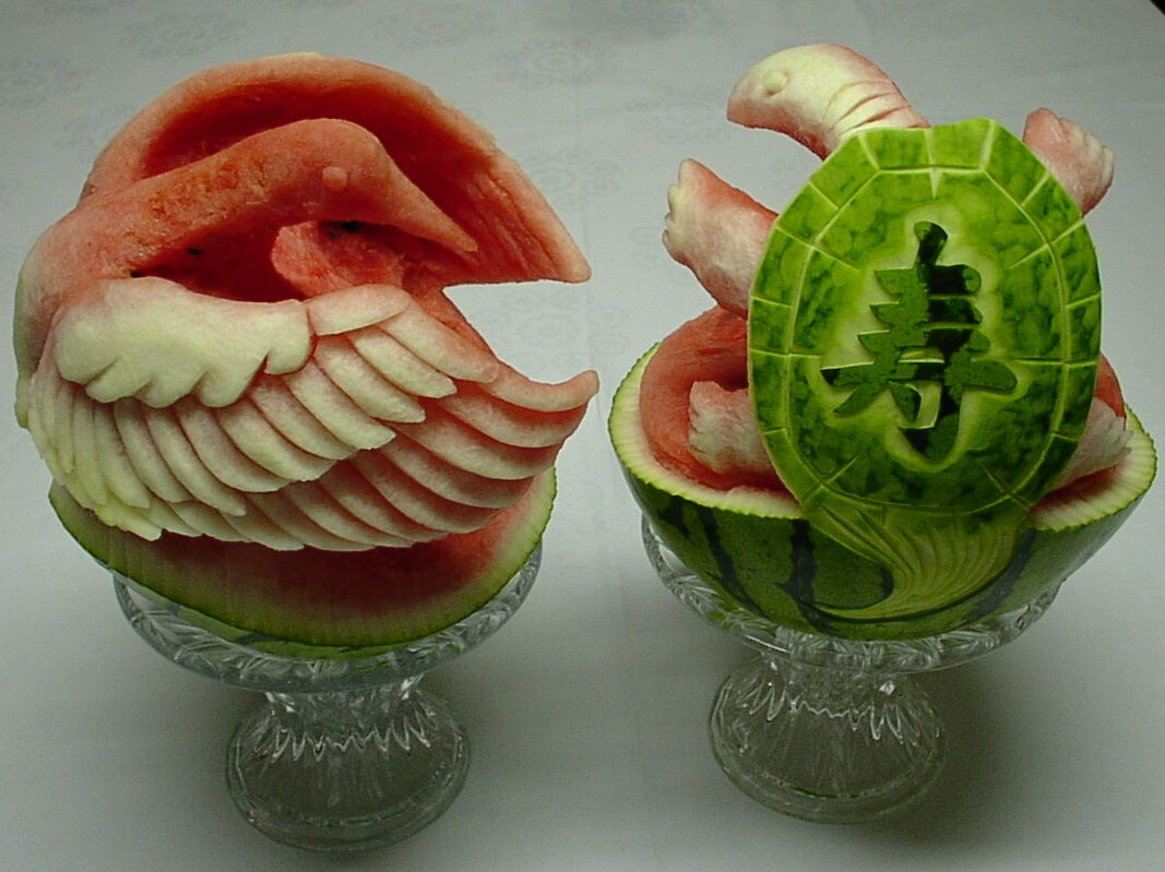 Watermelon Carving: The horse.