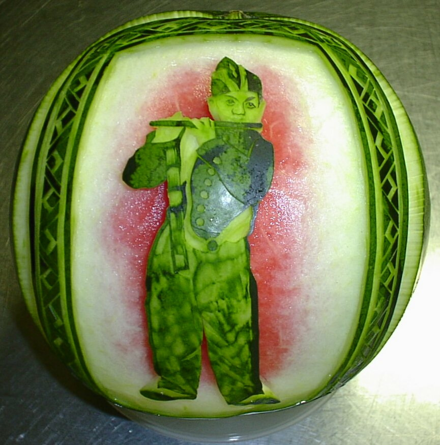 Watermelon Carving No.116: Wedding Reception.
