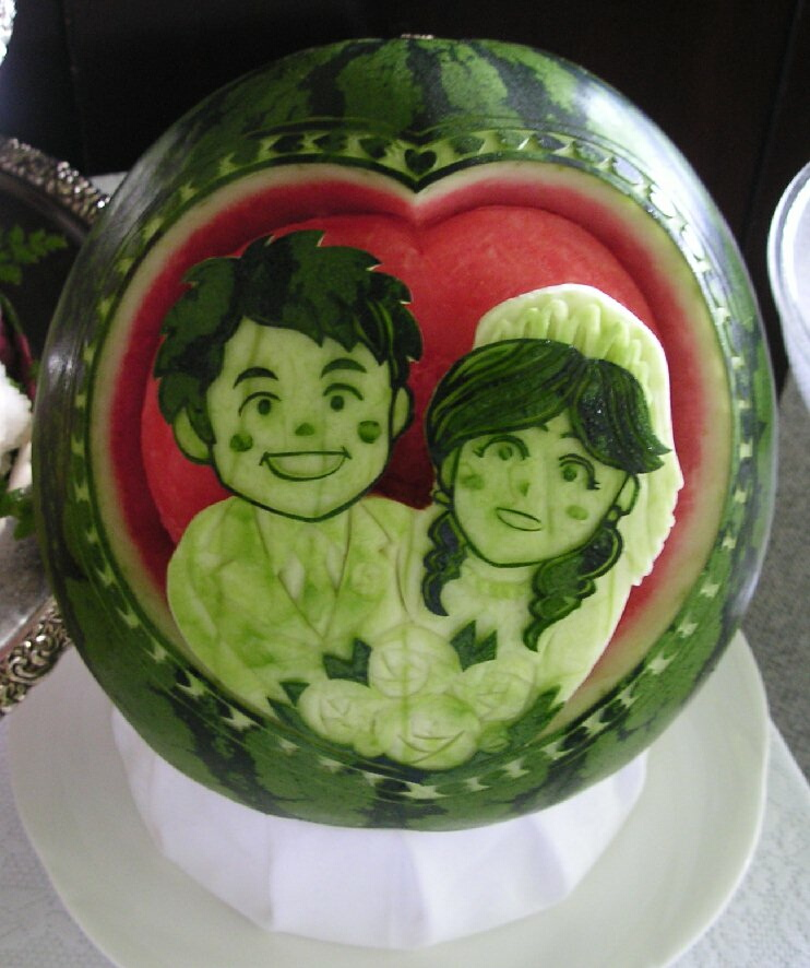 Watermelon Carving: Don't give up, Japan! Don't give up, Tohoku!