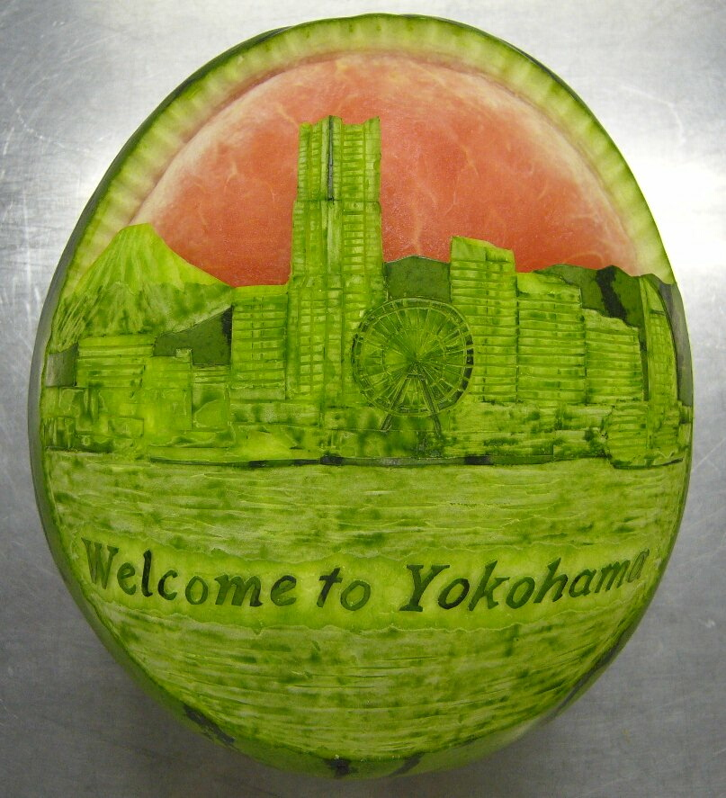 Watermelon Carving: Chef.