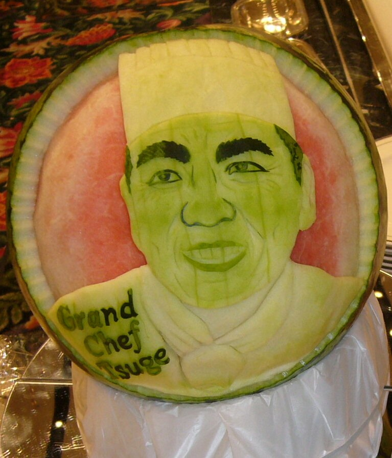 Watermelon Carving No.152: Tennis Lovers.