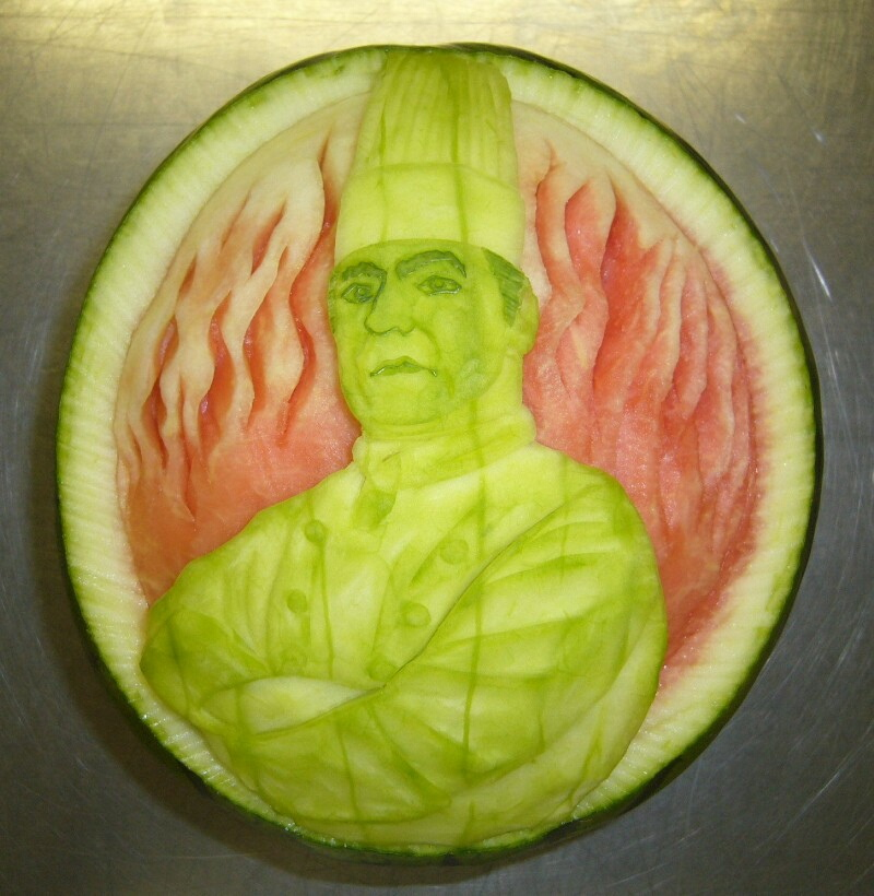 Watermelon Carving No.153: Chef.